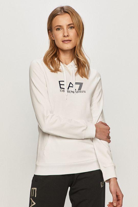 biela EA7 Emporio Armani - Mikina Dámsky