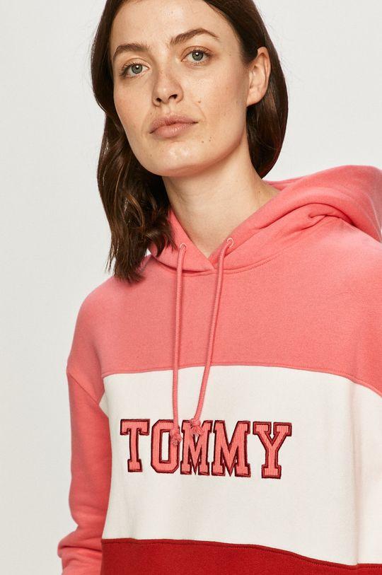viacfarebná Tommy Jeans - Bavlnená mikina