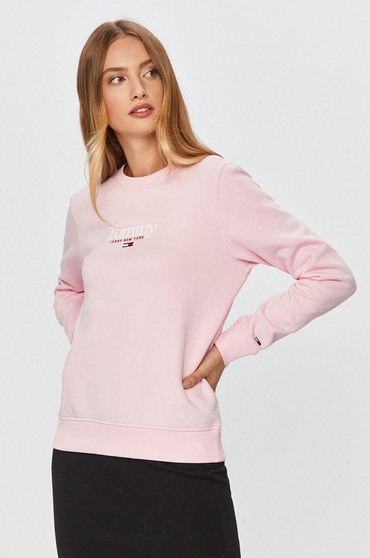 różowy Tommy Jeans - Bluza Damski