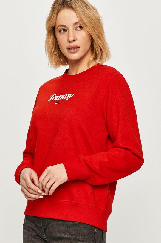 czerwony Tommy Jeans - Bluza Damski