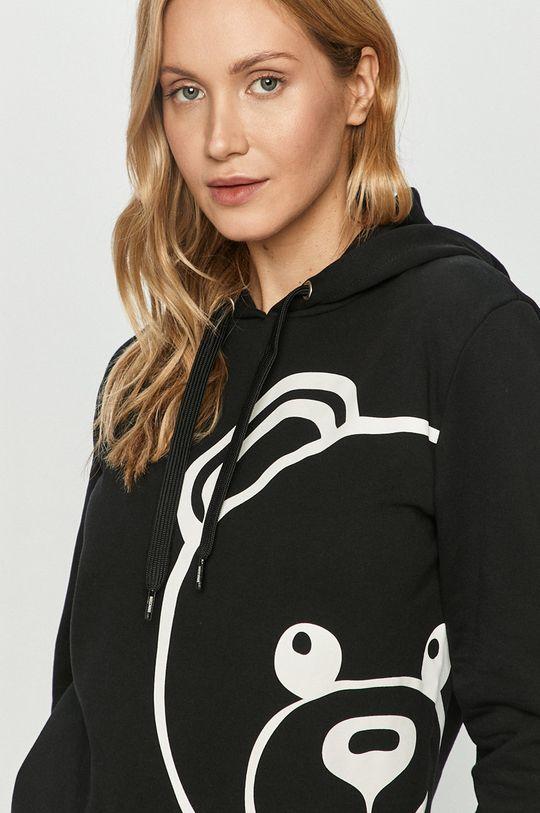 černá Moschino Underwear - Bavlněná mikina