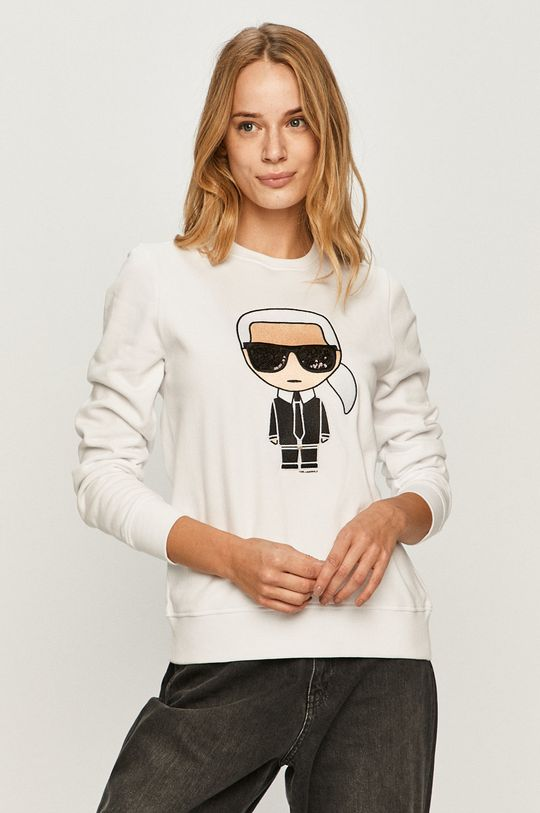 biela Karl Lagerfeld - Bavlnená mikina Dámsky