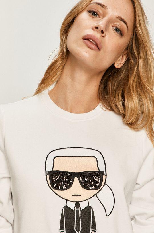 biela Karl Lagerfeld - Bavlnená mikina