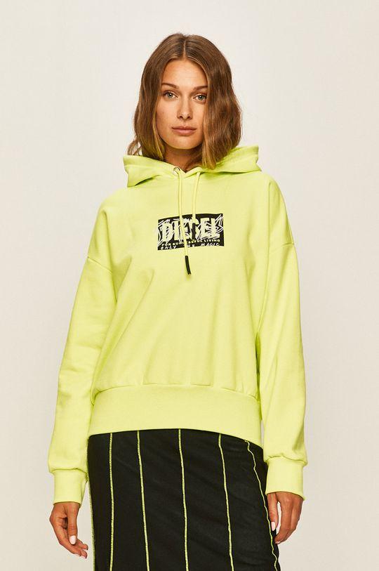 żółto - zielony Diesel - Bluza Damski