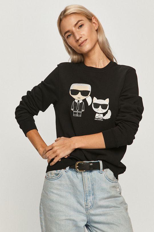 negru Karl Lagerfeld - Hanorac de bumbac De femei