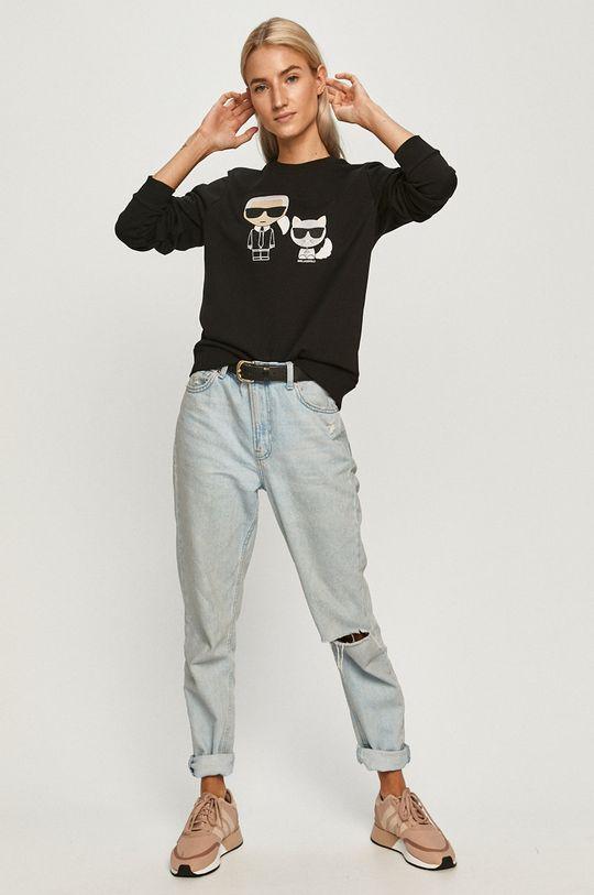 Karl Lagerfeld - Hanorac de bumbac negru