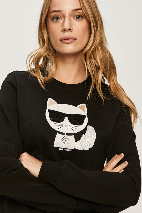 negru Karl Lagerfeld - Hanorac de bumbac
