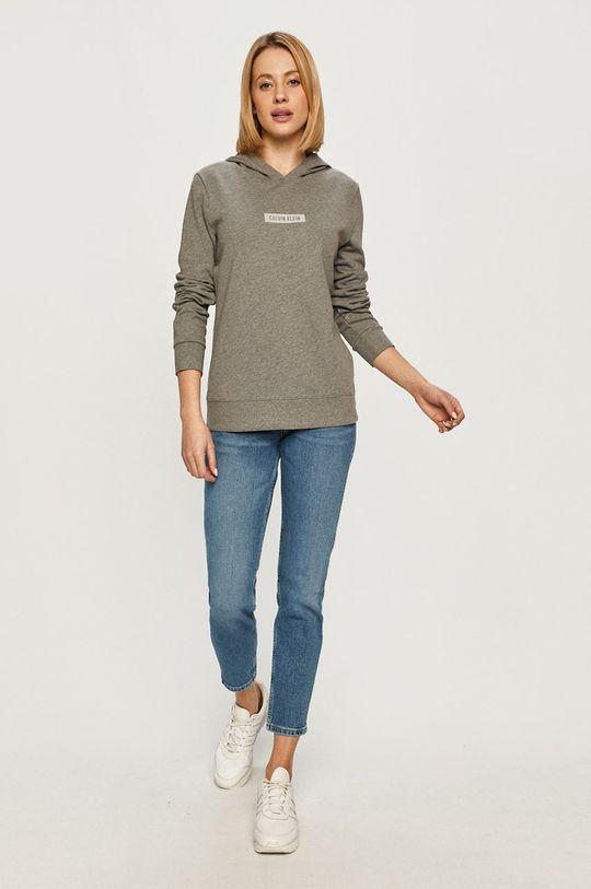 Calvin Klein Performance - Bluza bawełniana szary