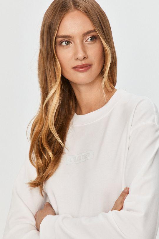 biela Calvin Klein Performance - Bavlnená mikina
