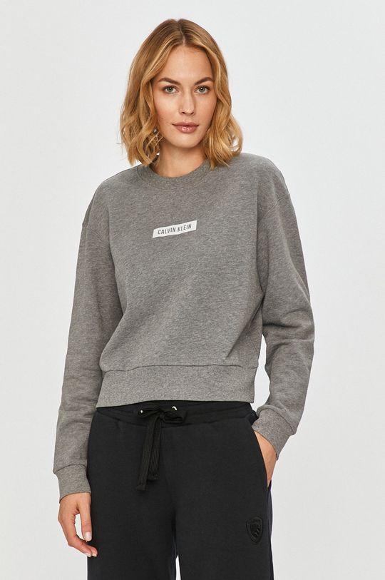 sivá Calvin Klein Performance - Bavlnená mikina Dámsky
