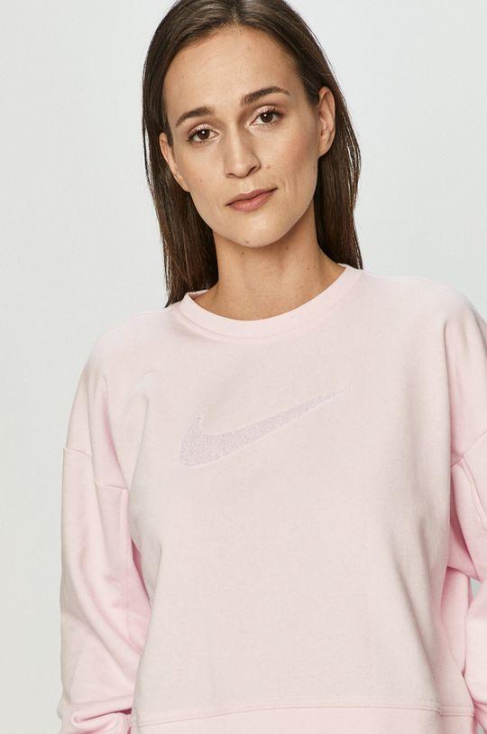 różowy Nike - Bluza