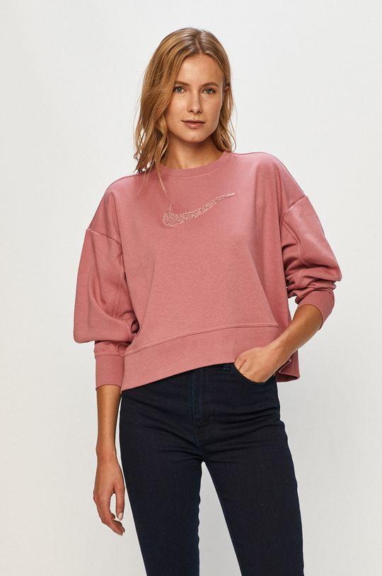 brudny róż Nike - Bluza