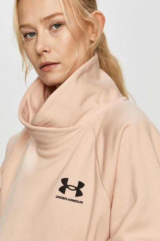 pastelowy różowy Under Armour - Bluza