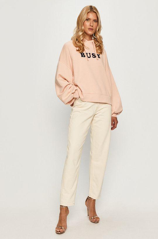 Pepe Jeans - Bluza bawełniana Greta brudny róż