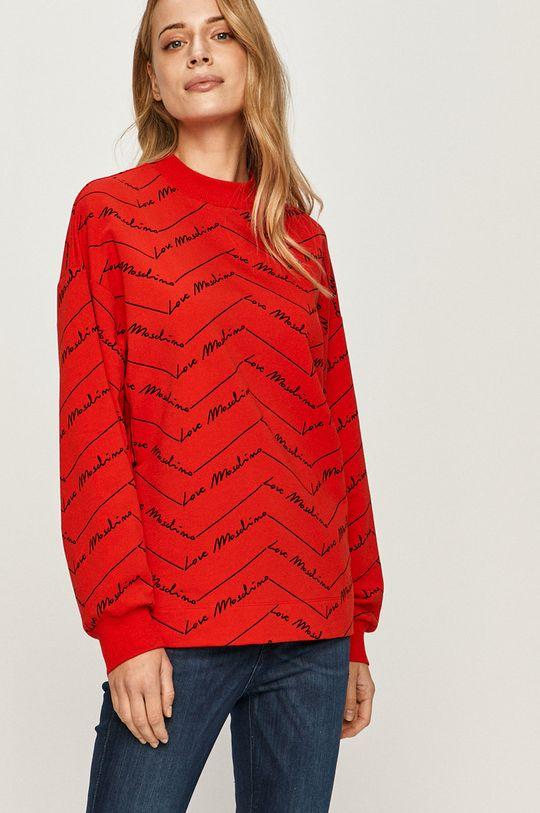 czerwony Love Moschino - Bluza