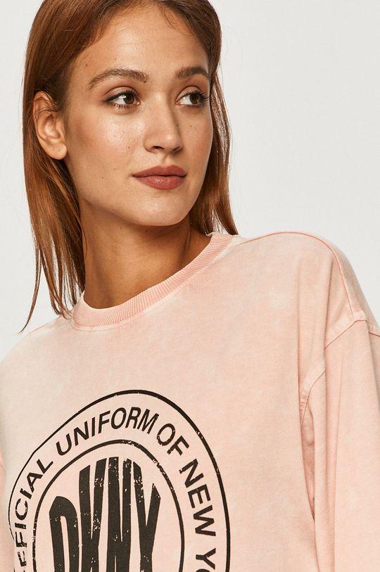 różowy Dkny - Bluza