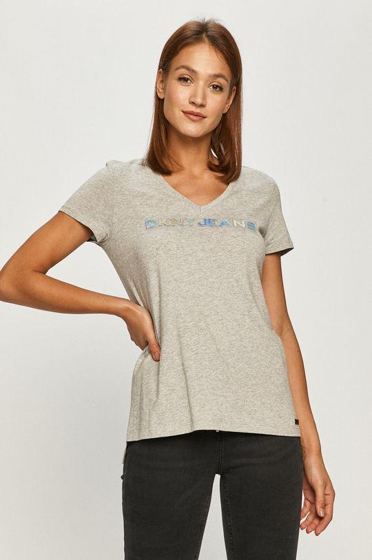 jasny szary Dkny - T-shirt Damski