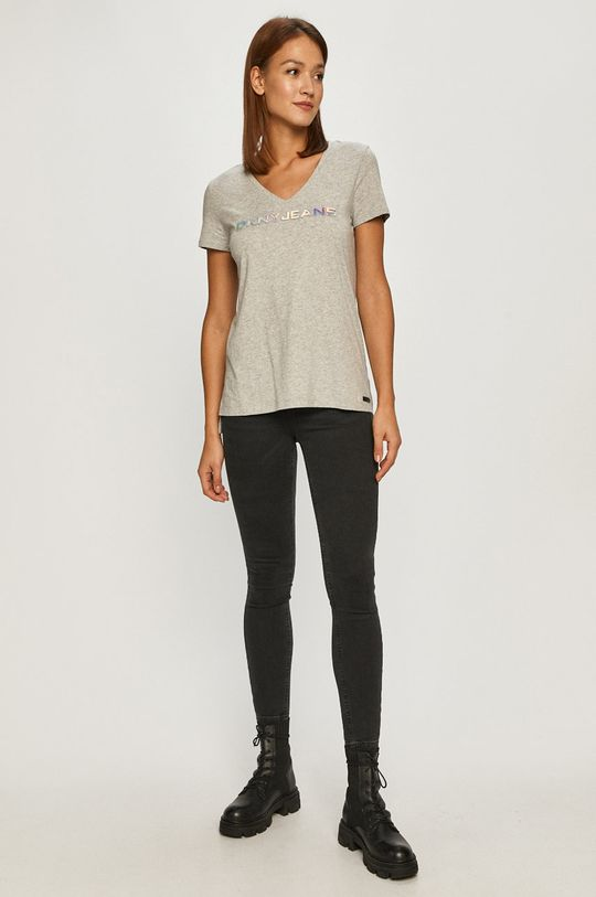 Dkny - T-shirt jasny szary