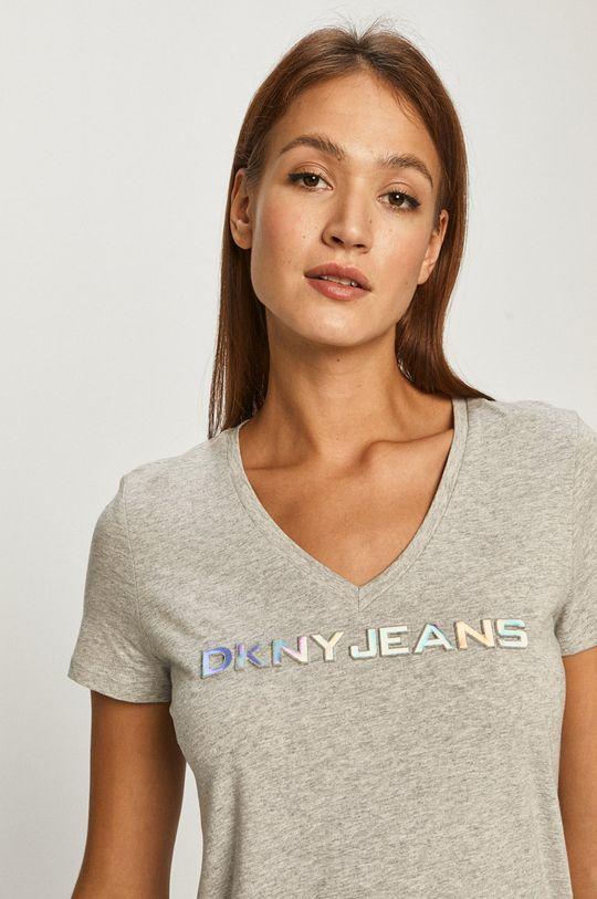 jasny szary Dkny - T-shirt