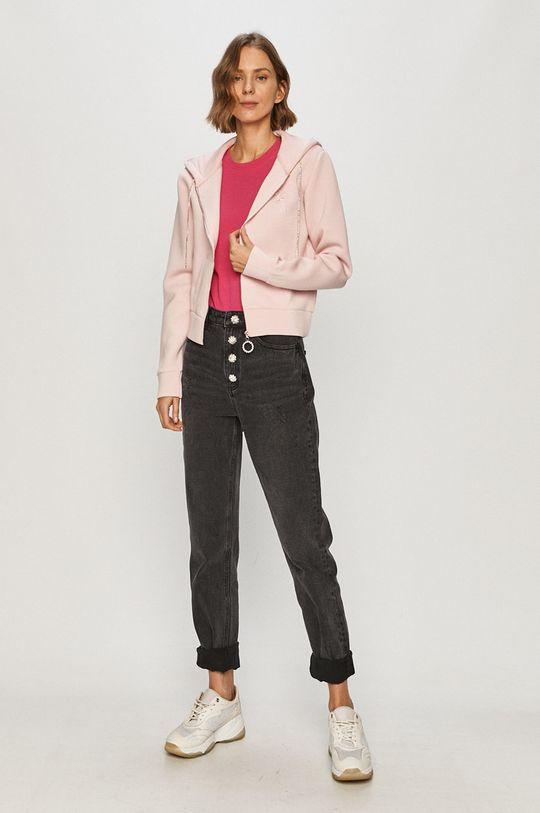 Guess Jeans - Mikina růžová