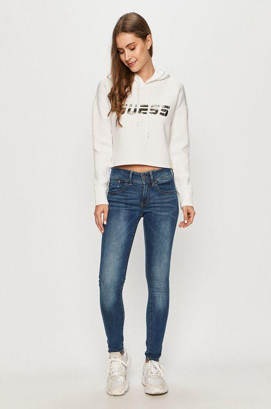 Guess Jeans - Mikina biela