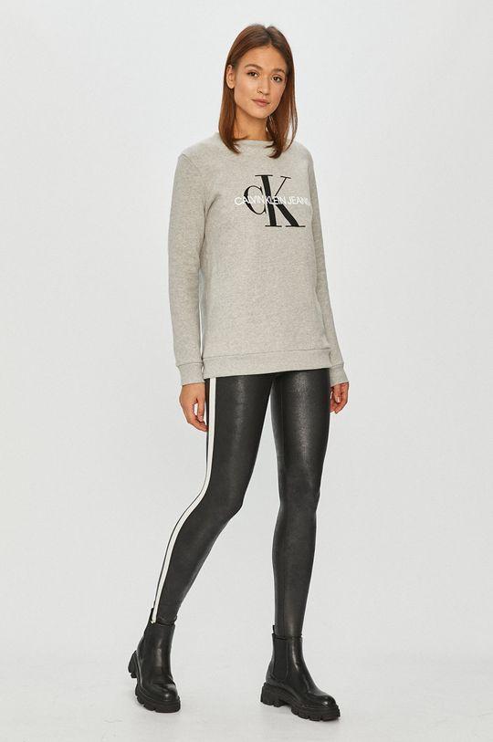 Calvin Klein Jeans - Bavlněná mikina světle šedá
