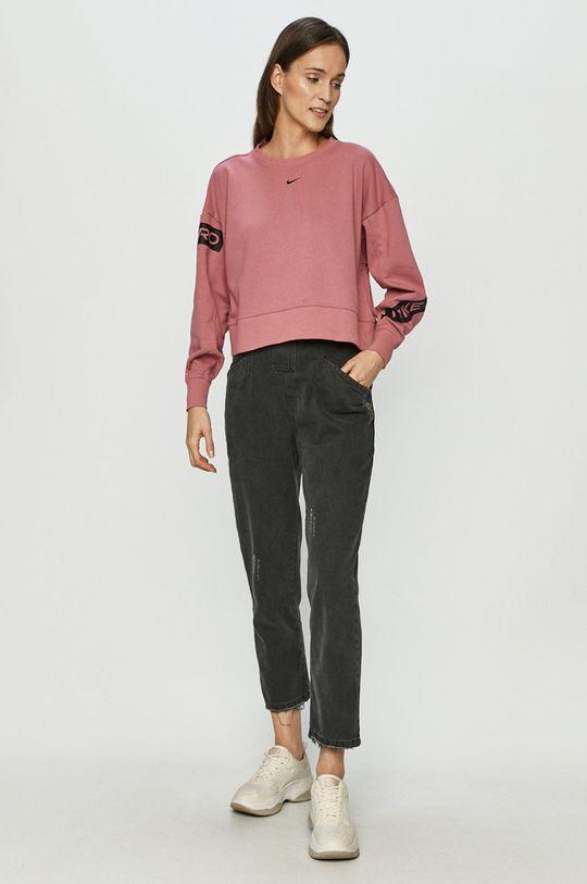Nike - Mikina sýto ružová