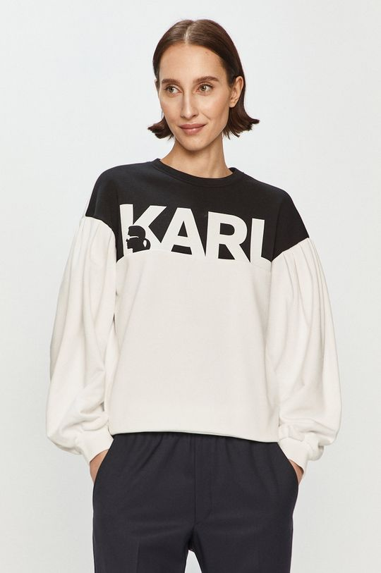 biały Karl Lagerfeld - Bluza Damski