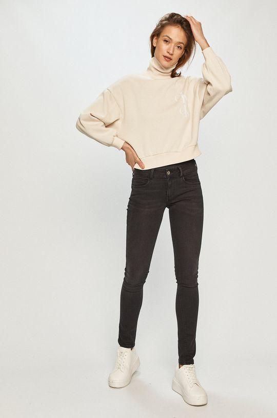 Calvin Klein Jeans - Mikina smetanová