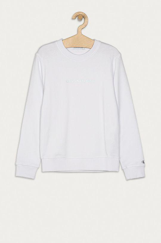 alb Calvin Klein Jeans - Bluza copii 104-176 cm De fete