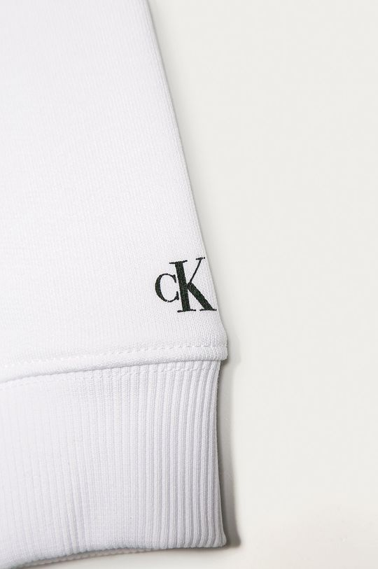 Calvin Klein Jeans - Bluza copii 104-176 cm alb