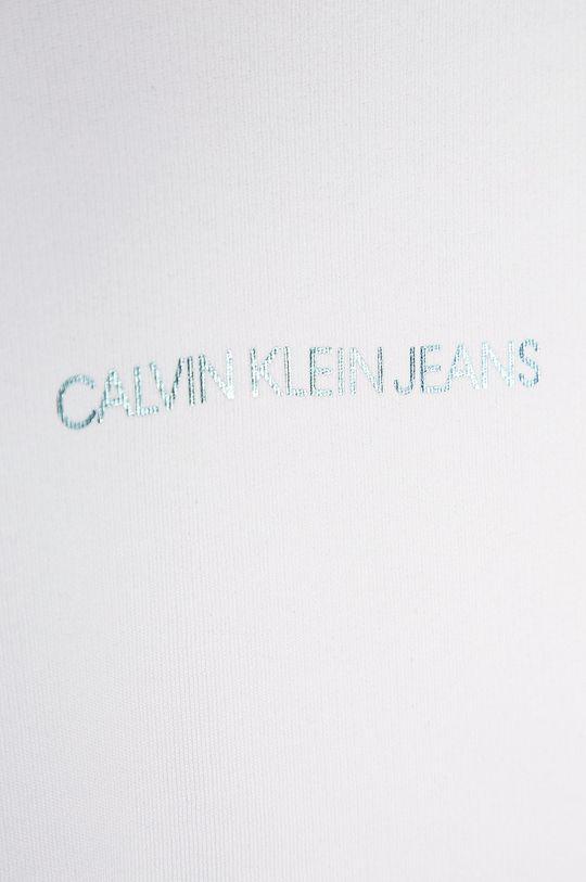 alb Calvin Klein Jeans - Bluza copii 104-176 cm