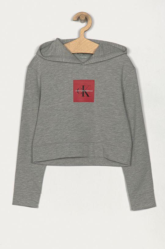 gri deschis Calvin Klein Underwear - Hanorac de bumbac pentru copii 128-176 cm De fete