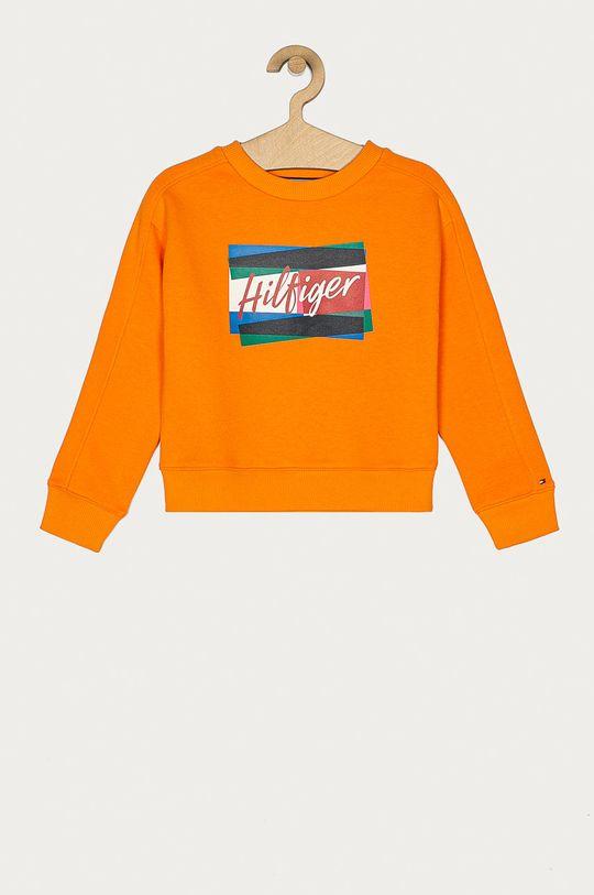 pomarańczowy Tommy Hilfiger - Bluza dziecięca 110-176 cm Dziewczęcy
