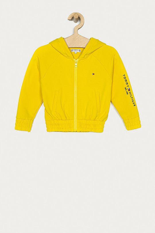 żółty Tommy Hilfiger - Bluza dziecięca Dziewczęcy