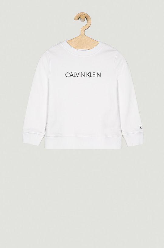 bílá Calvin Klein Jeans - Dětská bavlněná mikina 104-176 cm Dětský