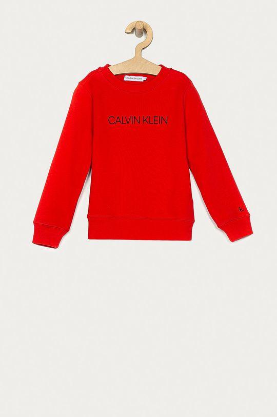 červená Calvin Klein Jeans - Dětská mikina 104-176 cm Dětský