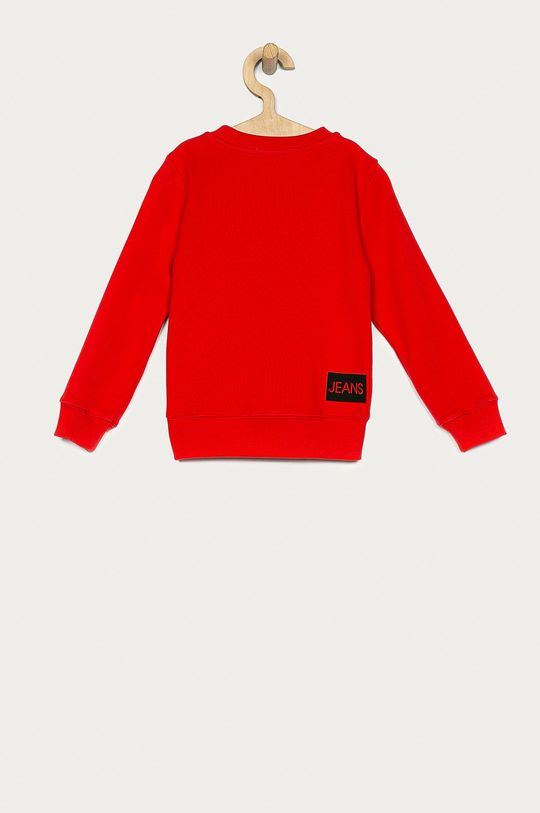 Calvin Klein Jeans - Dětská mikina 104-176 cm červená