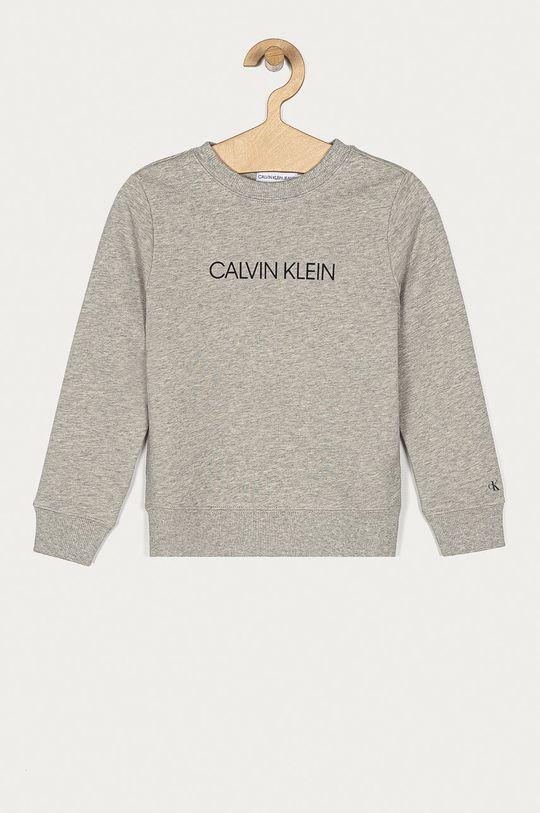 šedá Calvin Klein Jeans - Dětská bavlněná mikina 104-176 cm Dětský