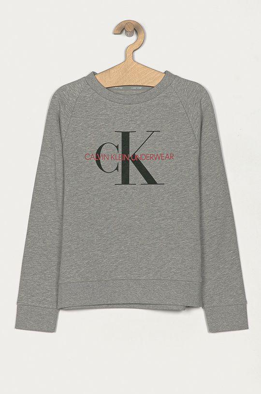 gri deschis Calvin Klein Underwear - Hanorac de bumbac pentru copii 128-176 cm De copii