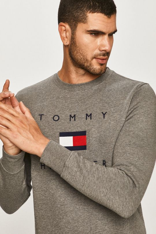 szary Tommy Hilfiger - Bluza Męski