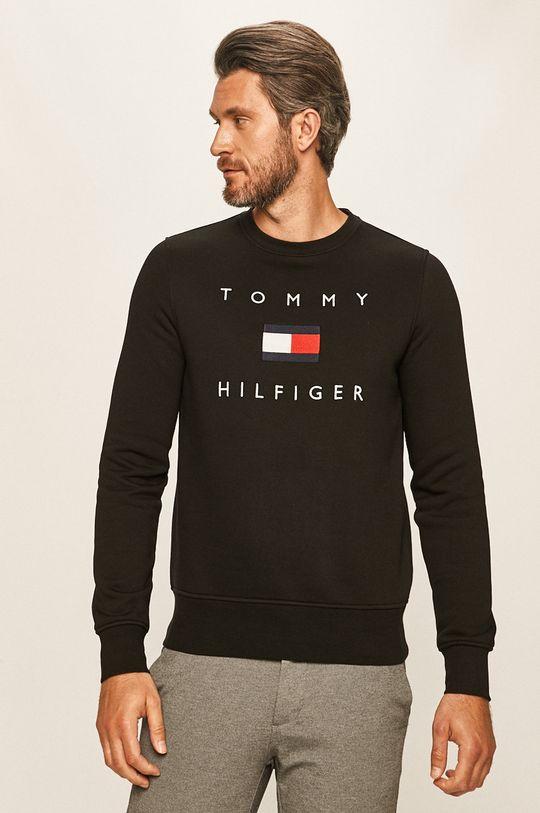 czarny Tommy Hilfiger - Bluza Męski