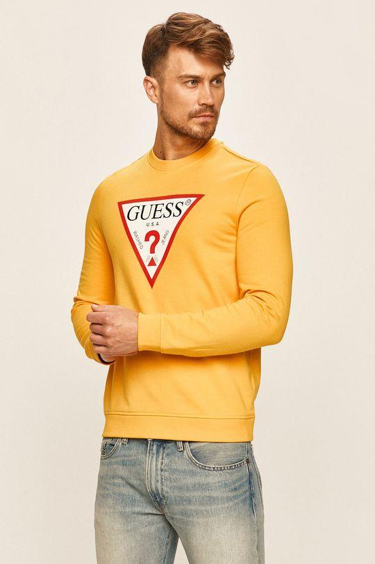 żółty Guess Jeans - Bluza Męski