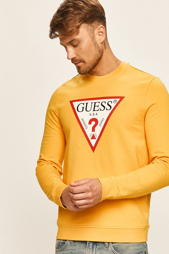 żółty Guess Jeans - Bluza