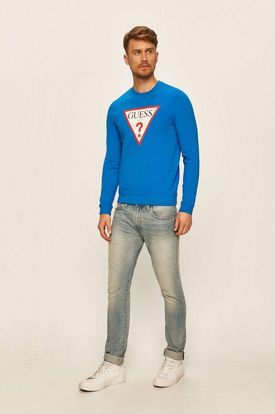 Guess Jeans - Mikina modrá