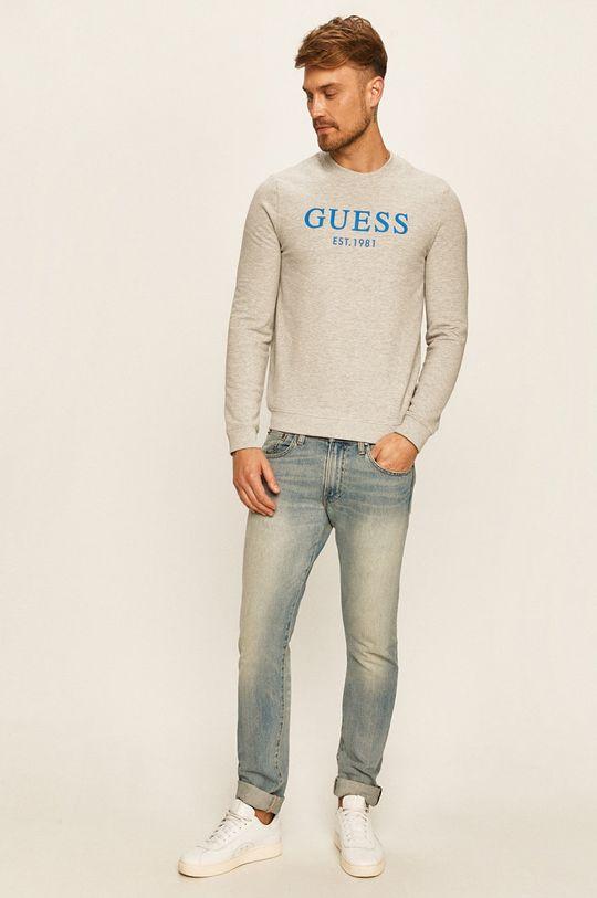 Guess Jeans - Mikina šedá