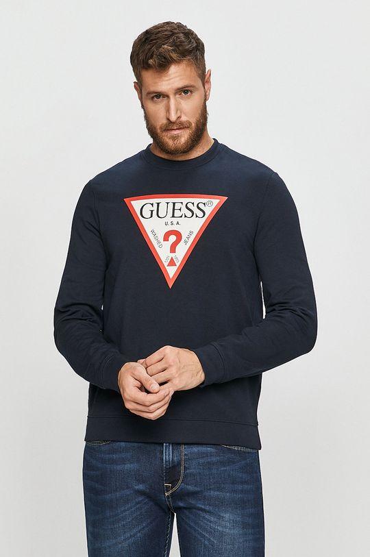 námořnická modř Guess Jeans - Mikina Pánský