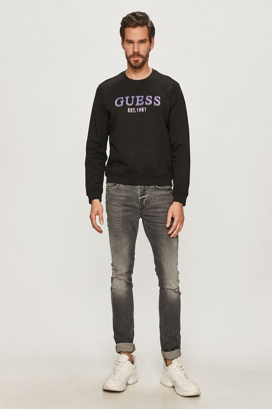 Guess Jeans - Mikina černá