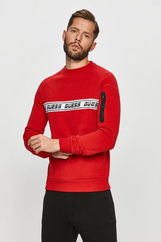 červená Guess Jeans - Mikina Pánský