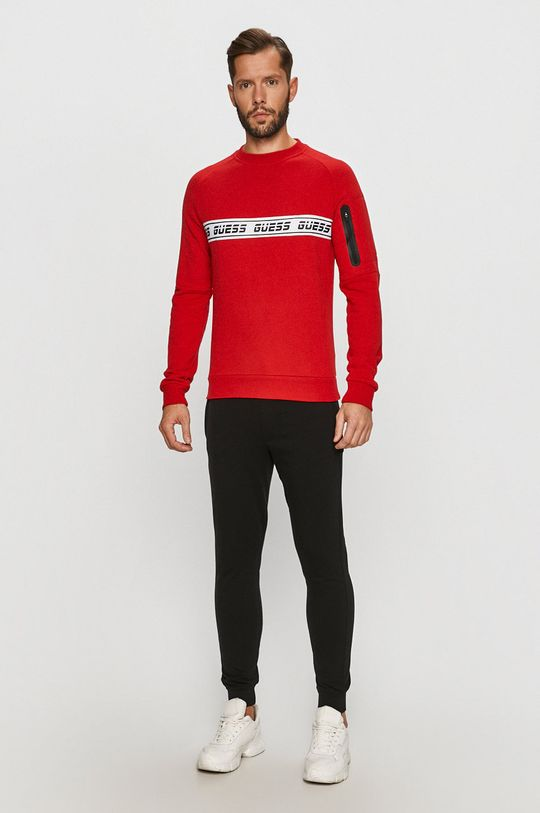 Guess Jeans - Mikina červená